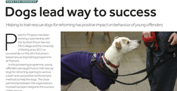 SPS magazine Paws for Progress crop
