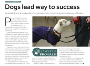 SPS magazine Paws for Progress