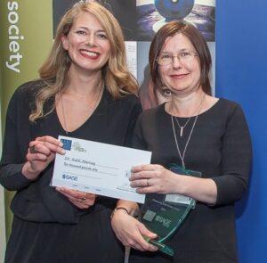Kath ESRC prize crop