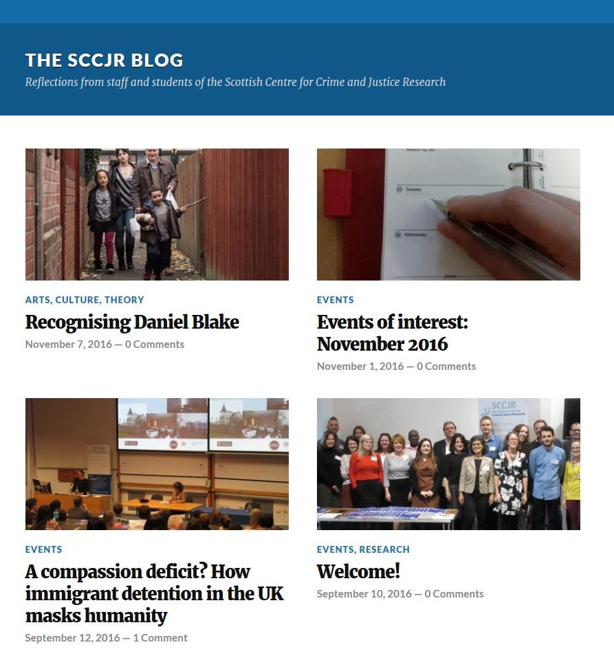 The SCCJR Blog